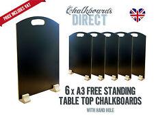 A3 chalk board/handheld table top pub menu black board pk of 6 (A3-H)