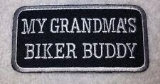 "Embroidered MY GRANDMA'S BIKER BUDDY Kid's Biker Patch 3""x1.5"" Vest Jacket MC"