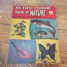 My First Coloring Book Of Nature Treasure Books VTG 1953 USA New York  Ephemera