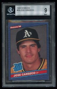 1986 Donruss Jose Canseco # 39 Rated Rookie RC BGS 9