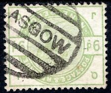 Qv 1883 9d Dull Green Sg195Wi Letters Jq Very Good Used Inverted Watermark