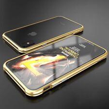 Premium Metall Schock Bumper Gold für Apple iPhone X / XS Tasche Hülle Case Neu