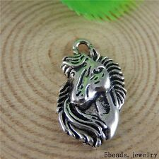 16x Vintage Silver Alloy Horse Head Charms Pendant Crafts Findings Jewelry 50789