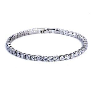 4mm Cubic Zirconia Tennis Bracelet For Women Silver Gold Color Bracelets