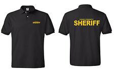 Sheriff Polo with Custom County Logo Law Enforcement Polo-Shirts S-5XL