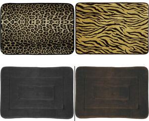 Memory Foam Bath Mat 17 x 24 Cloud 9 Mohawk Home Leopard Zebra Brown Black Tan