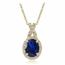 "18 - 19.99"" Simulated Sapphire Fine Necklaces & Pendants"