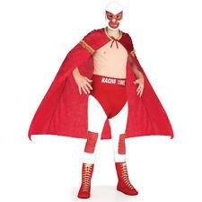 Mens Nacho Libre Fancy Dress Costume Lucha Libre Wrestling Superhero Costume