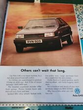 VW Polo G40 poster, Rare, Vintage, Supercharged, GT