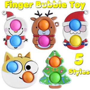 Simple Dimple Fidget Toy Christmas Popit Push Bubble Sensory Decompression Toys