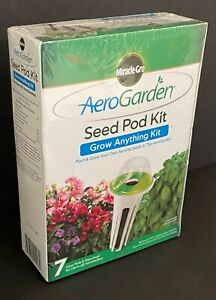 NEW & SEALED Miracle-Gro AeroGarden Grow Anything Seed Pod Kit -7 Grow Pods ++
