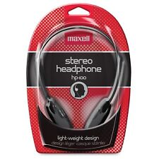 Maxell 190319 HP-100 Lightweight Stereo Headphone - Stereo - Black- Wired