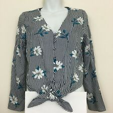 One Clothing Floral Long Sleeve Top Size S