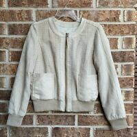 Anthropologie Hei Hei  Suede Bomber Jacket size small
