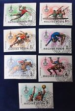Hungary SC# C418-24 CTO 1980 IMPERF Olympics