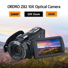 10x Optical Zoom Video Camera HDV-Z82 HD 1080P Hot Shoe Camcorder Touch Screen