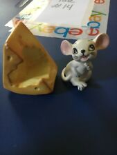 Vintage Ceramic Mouse and Cheese Salt and Pepper Shakers Set Japan