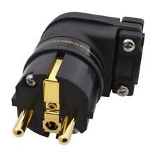 Furutech FI-E12L(G) Gold Schuko-Stecker abgewinkelt Schukostecker 860478