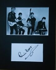 Pete Best 'The Beatles', hand signed mounted autograph.