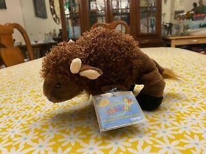 Ganz Webkinz Buffalo Bison 9 Inch With Unused Code  Retired