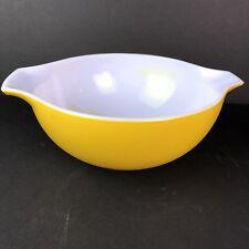 Vintage Pyrex Yellow  Cinderella Mixing Bowl 2 1/2 quart Marked 443 Made in USA