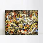 "Framed Large Artwork Convergence by Jackson Pollock Wall Art Home Decor 28""x40"""
