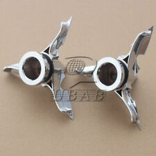 Chrome Spun Blade Spinning Front Axle Plastic Nut Cover for Harley Dyna Touring