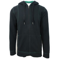 prAna Men's Black Green Barringer Full-Zip Hoodie (Retail $90)