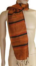 Foulard écharpe étole soie traditionelle Mut Mee Thaïlande Thai Silk Scarf E001
