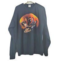 Elvis Presley Men's Guitar Black Spell Out Long Sleeve T-Shirt Size 2XL NWOT