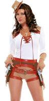 Womens Sheriff Cowgirl Wild West Western Cowboy Fancy Dress Costume All Sizes