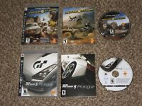 Works Great! Gran Turismo 5 Prologue + Motorstorm Playstation 3 PS3 Complete Lot