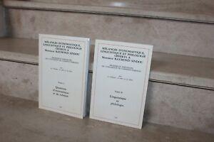 mélanges d'onomastique linguistique et philologie en 2 tomes