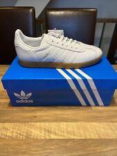 Brand New Adidas Originals Gazelle Leather - White /Gum Sole -Hamburg- UK 7