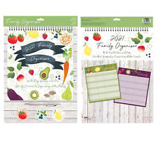 2021 Family Organiser Calendar with Pegs and Pen - Food