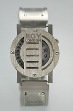 Boy London Men's Silver Stainless Steel Water Resistant Easy Read Quartz Watch