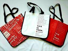 "Lululemon Shopping Bag Lot - 3 Designs Large(15""X14"") Reusable Snap Closure Tote"