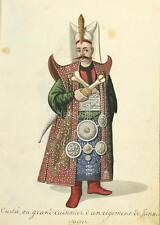 7x5 Inch Reprint Ottoman Turkish Turkey Turnaji Bashi Brigadier General 19thc