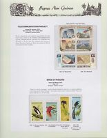 1973 PNG PAPUA NEW GUINEA Telecommunications Birds Paradise STAMP SET K-430