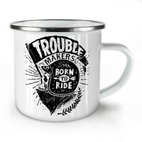 Ride Skull Biker Slogan NEW Enamel Tea Mug 10 oz | Wellcoda