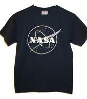 NASA austronaut program planets Small Space Short Sleeve Blue T Shirt Womens S