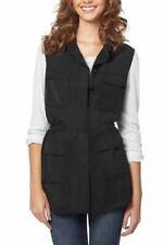 Buffalo David Bitton Women's Lightweight Vest Button Front & Adjustable Waist