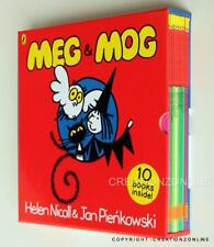 MEG & MOG 10 BOOK SET IN HARD COVER BRAND NEW HELEN NICOLL & JAN PIENKOWSKI