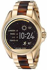 Display Michael Kors Access Unisex Gold Tone & Tortoiseshell Smart Watch MKT5003