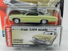 2017 AUTO WORLD 1:64 *PREMIUM 1B* YELLOW 1970 Chevrolet Impala *NIP*
