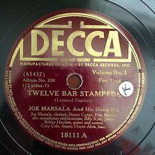 JOE MARSALA-DELTA SIX-Twelve Bar Stampede-Feather Bed Lament DECCA 18111 - 78