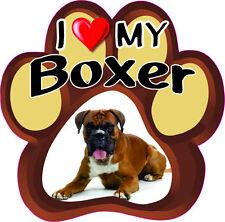 I LOVE MY BOXER Cute Dog Bumper sticker PAW #187