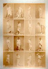 C13 Calavas photo étude pour peintre vintage albumen print albuminé nus Femme