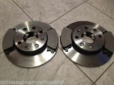 VAUXHALL COMBO VAN  01--TWO 260 MM VENTED FRONT BRAKE DISCS AND A SET OF PADS