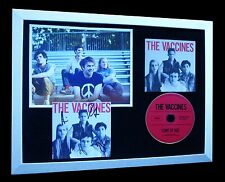VACCINES+SIGNED+FRAMED+COME OF AGE=100% AUTHENTIC+FAST GLOBAL SHIP+TEENAGE+WANNA